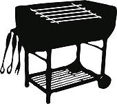 black and white bbq clipart clipart panda free clipart. Black Bedroom Furniture Sets. Home Design Ideas