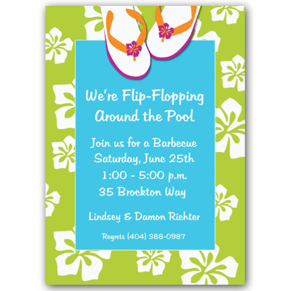Beach Party Invitation Wording Ideas – Bbq Party Invitation Wording
