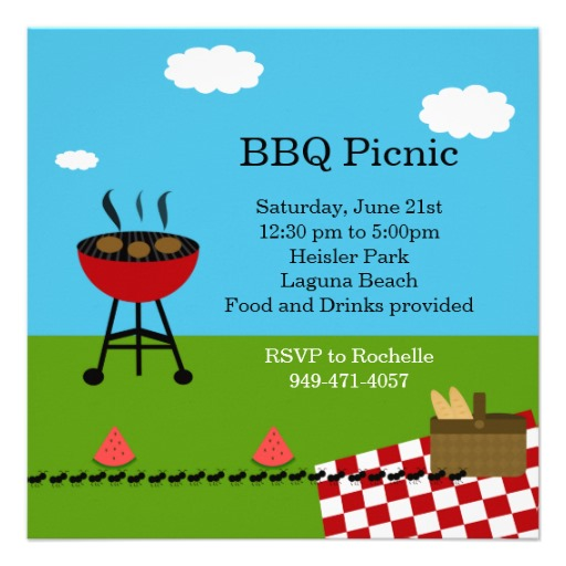 Bbq Party Invitation Templates Free | Clipart Panda - Free Clipart