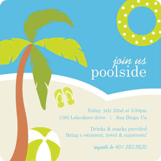 pool party invitations free – gangcraft, Party invitations
