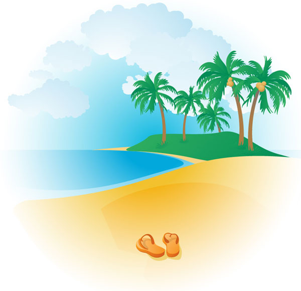 Tropical Beach Clipart | Clipart Panda - Free Clipart Images