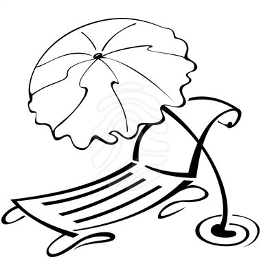 beach umbrella clipart black and white clipart panda