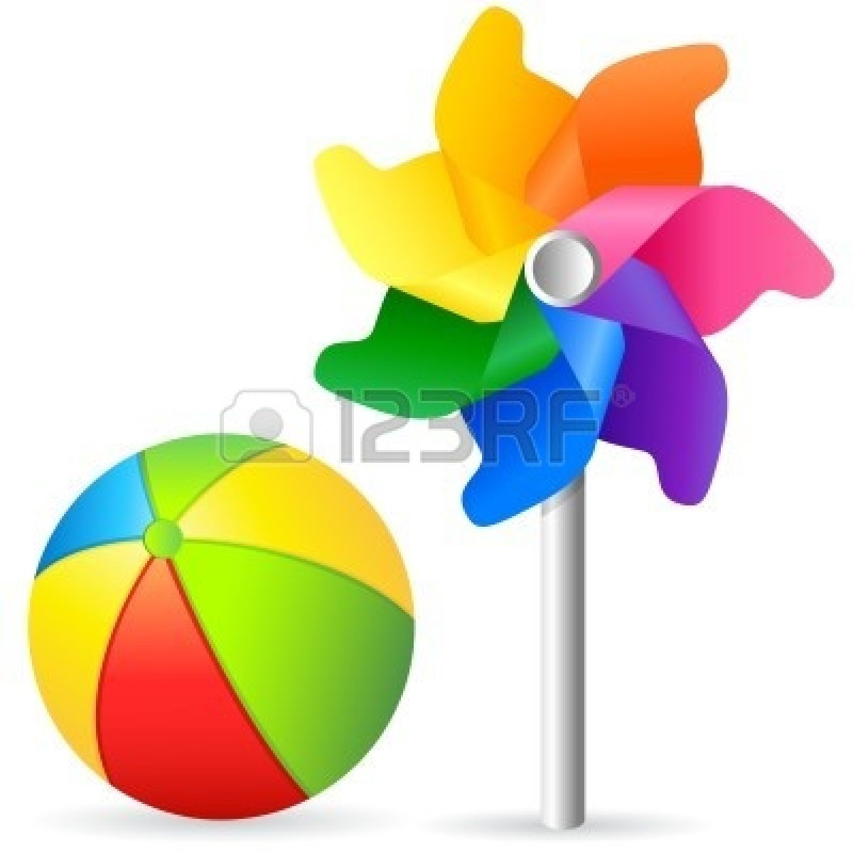 Toy Ball Clip Art : Beach toys clipart panda free images