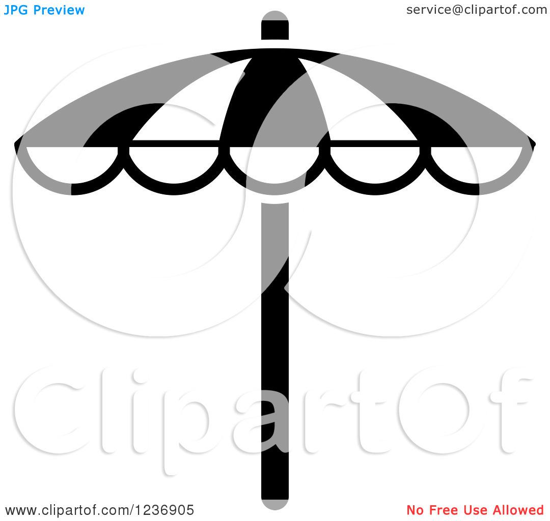 Beach umbrella and chair black and white - Beach 20umbrella 20clipart 20black 20and 20white