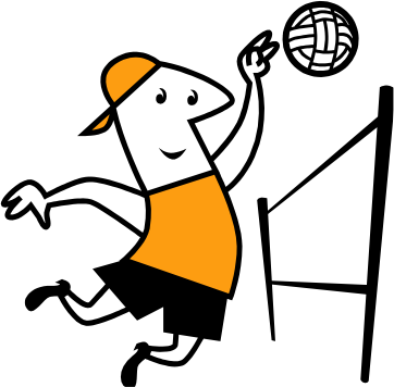 Guy Volleyball Clipart Clipart Panda