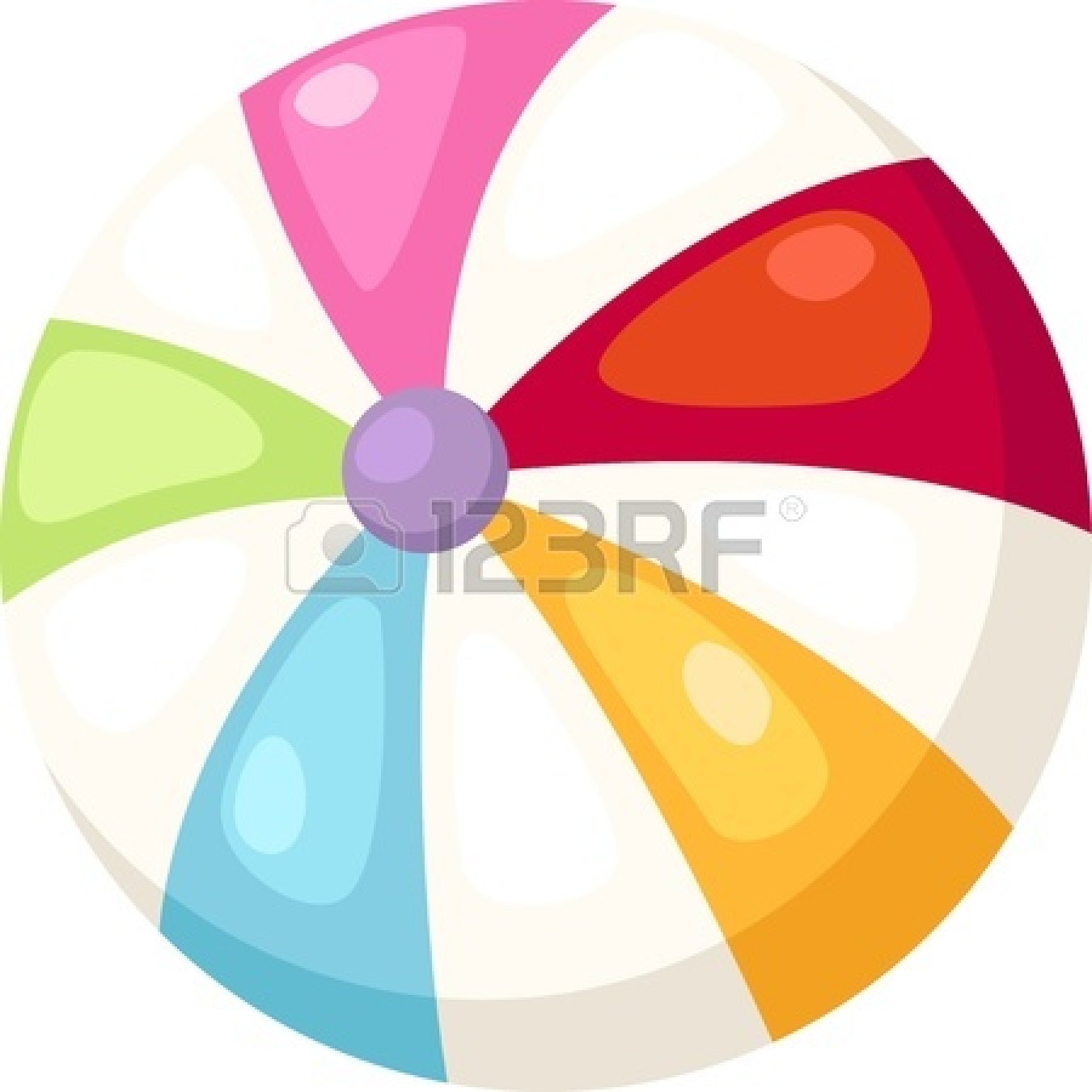 Beach Ball Vector Black And White Royalty Free Beach Ball Clip Art