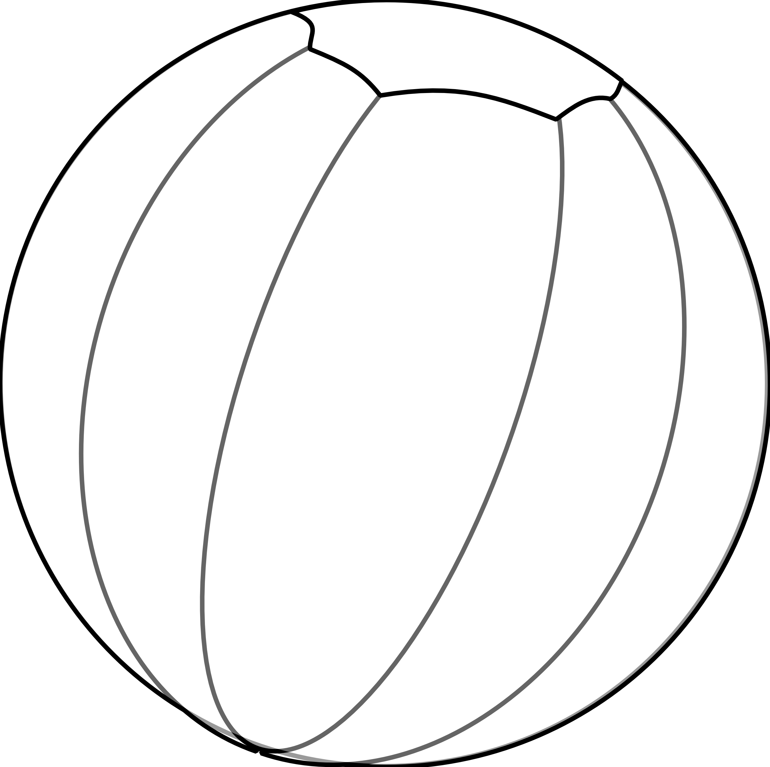 Vector Drawing Lines Disappear : Beachball clipart black and white panda free