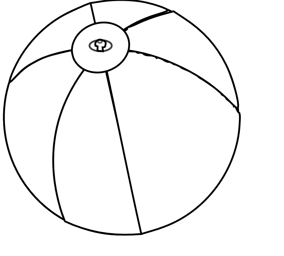 Beachball Clipart Black And White