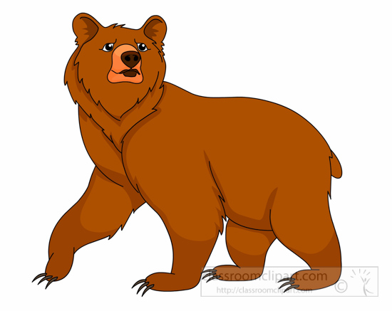 Cute grizzly bear clipart - photo#26