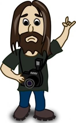 Cartoon Man With Long Beard Man With Beard Clipart