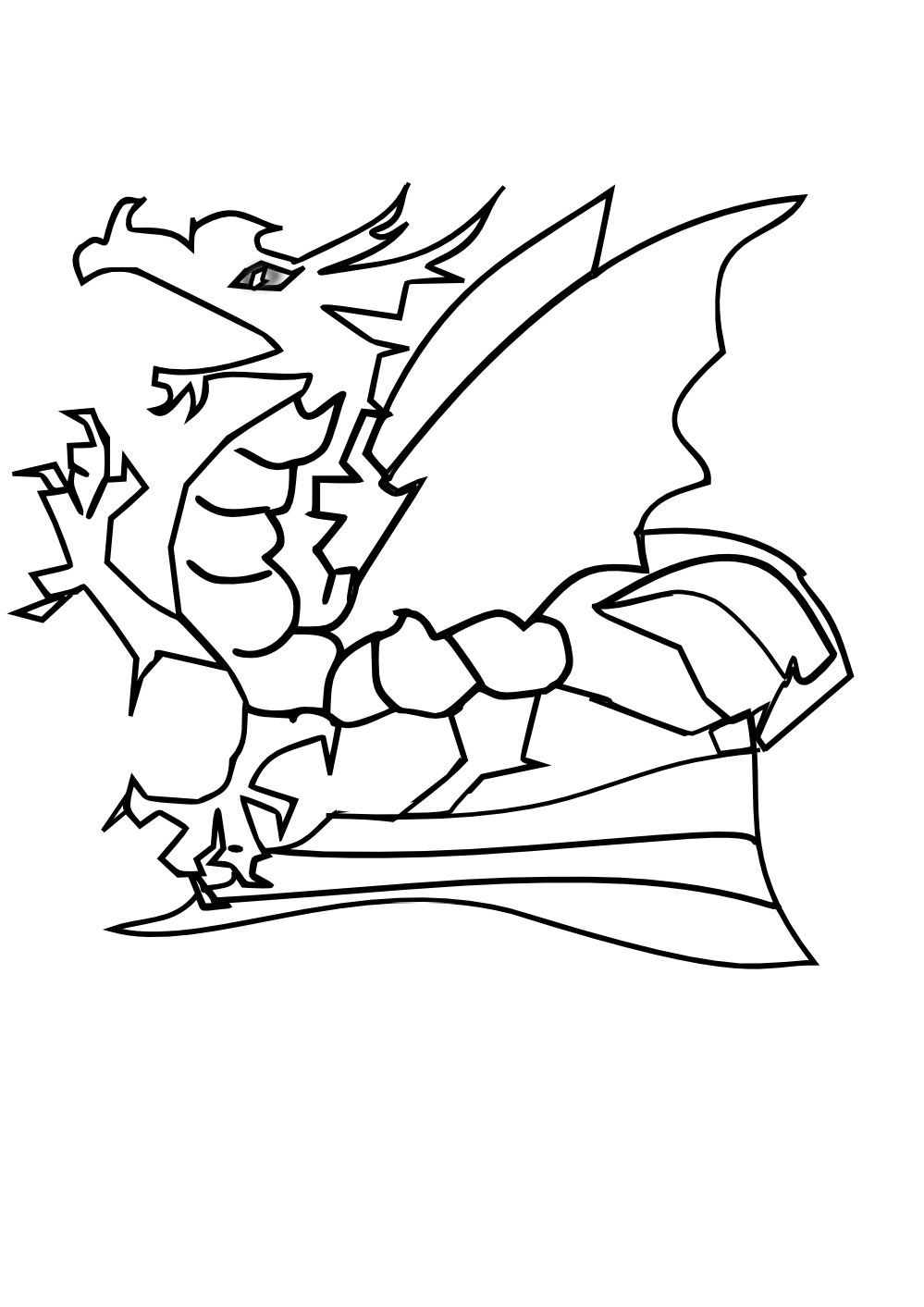 dragon clip art coloring pages - photo#13