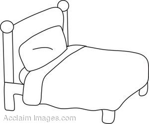 Bed Clip Art Black And White | Clipart Panda - Free ...