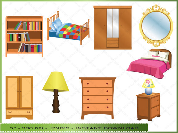 Bedroom Cupboards Clip Art