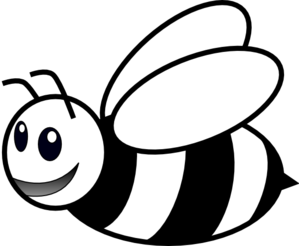 bee clipart black and white clipart panda free clipart images rh clipartpanda com black and white bumble bee clip art queen bee black and white clip art