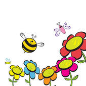bee%20and%20flower%20clipart