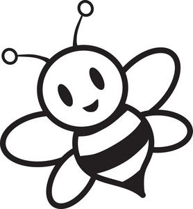 bee%20clipart%20black%20and%20white
