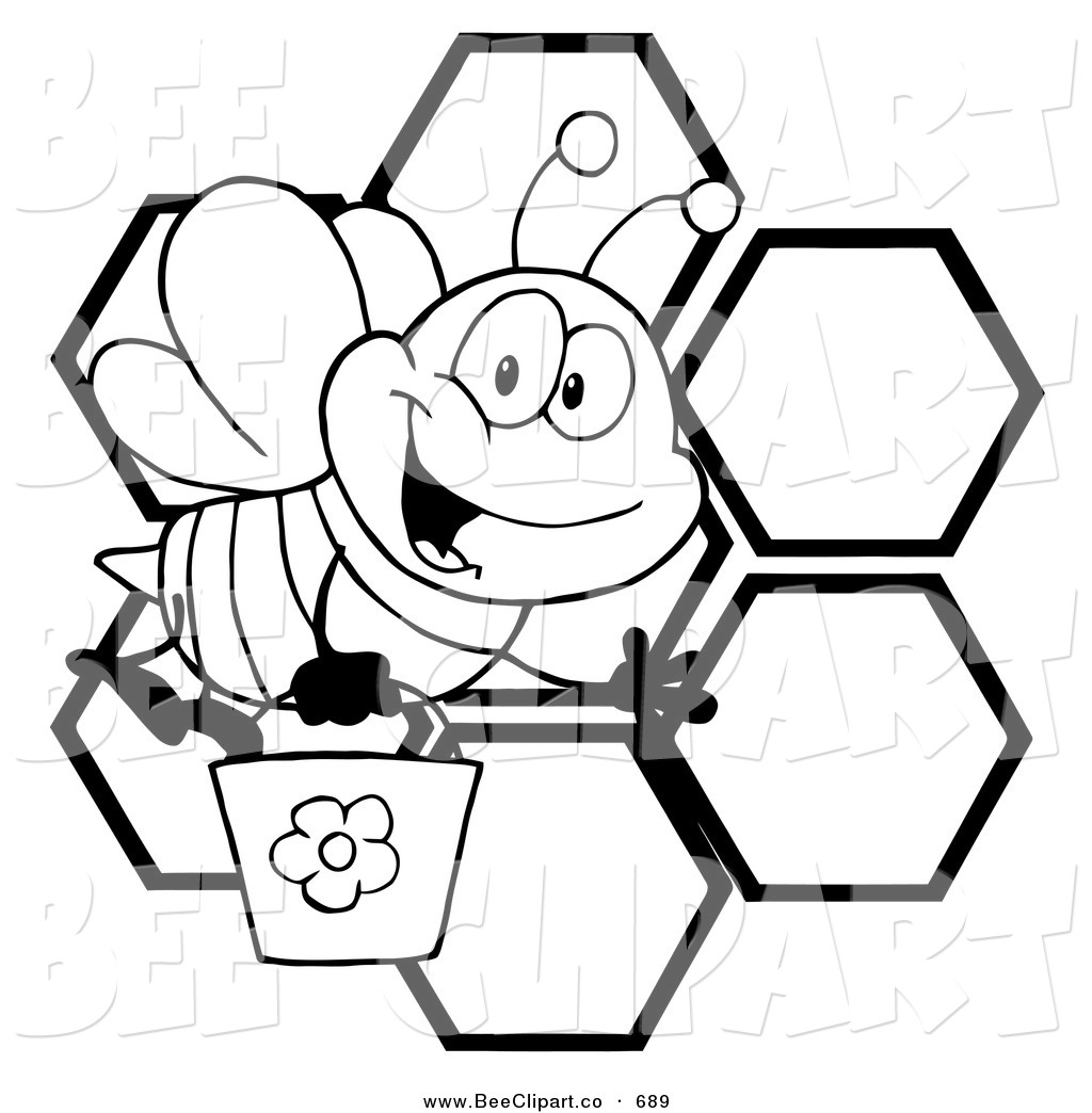 Bee Clipart Black And White Clipart Panda Free Clipart
