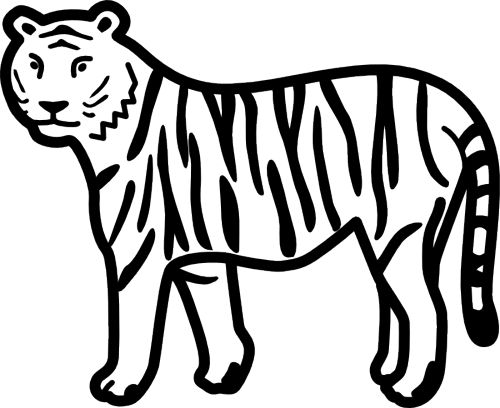 Clip Art Tiger Clipart Black And White cute tiger clipart black and white panda free clipart