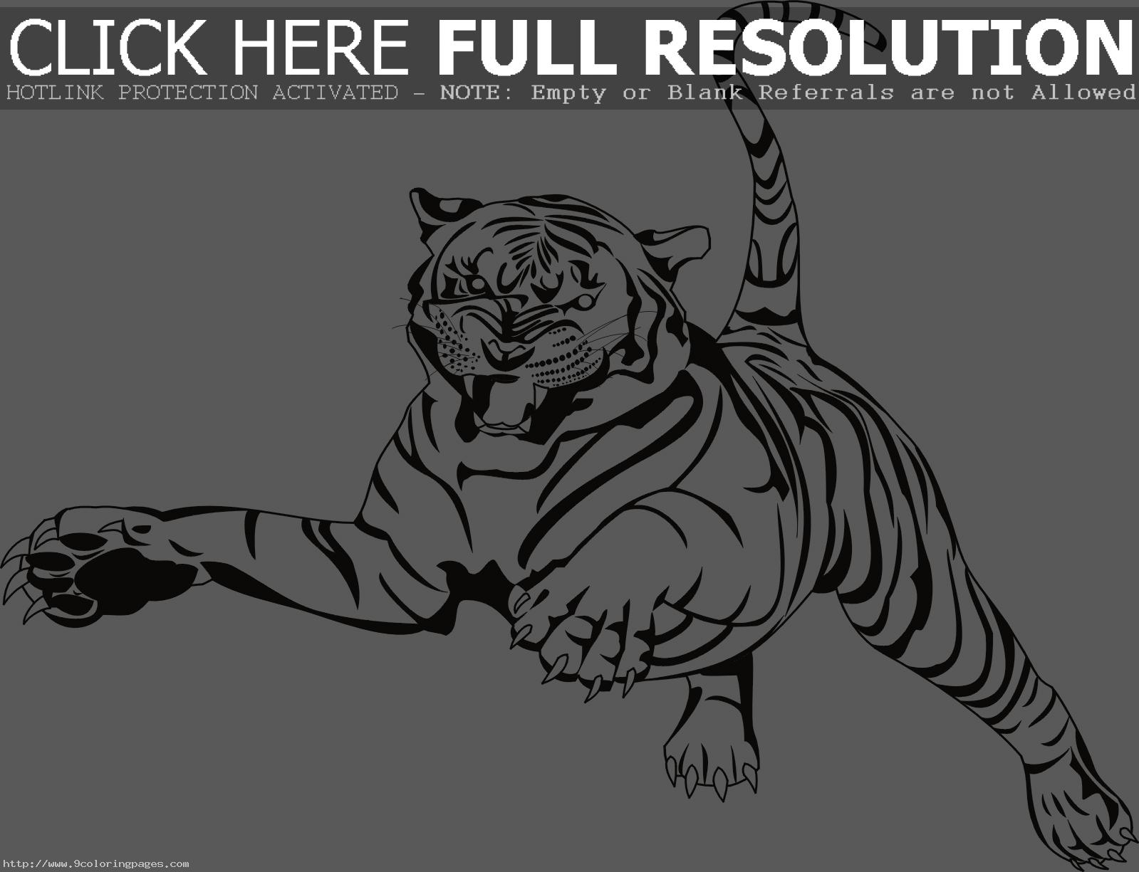 Bengal tiger clip art tiger coloring pages