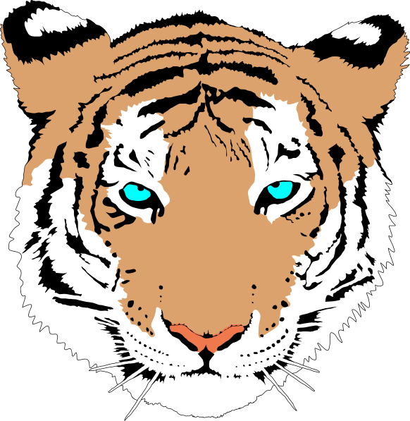 tiger face clip art clipart panda free clipart images rh clipartpanda com vector tiger face vector clipart of tiger face