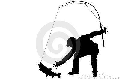 Bent fishing pole clipart