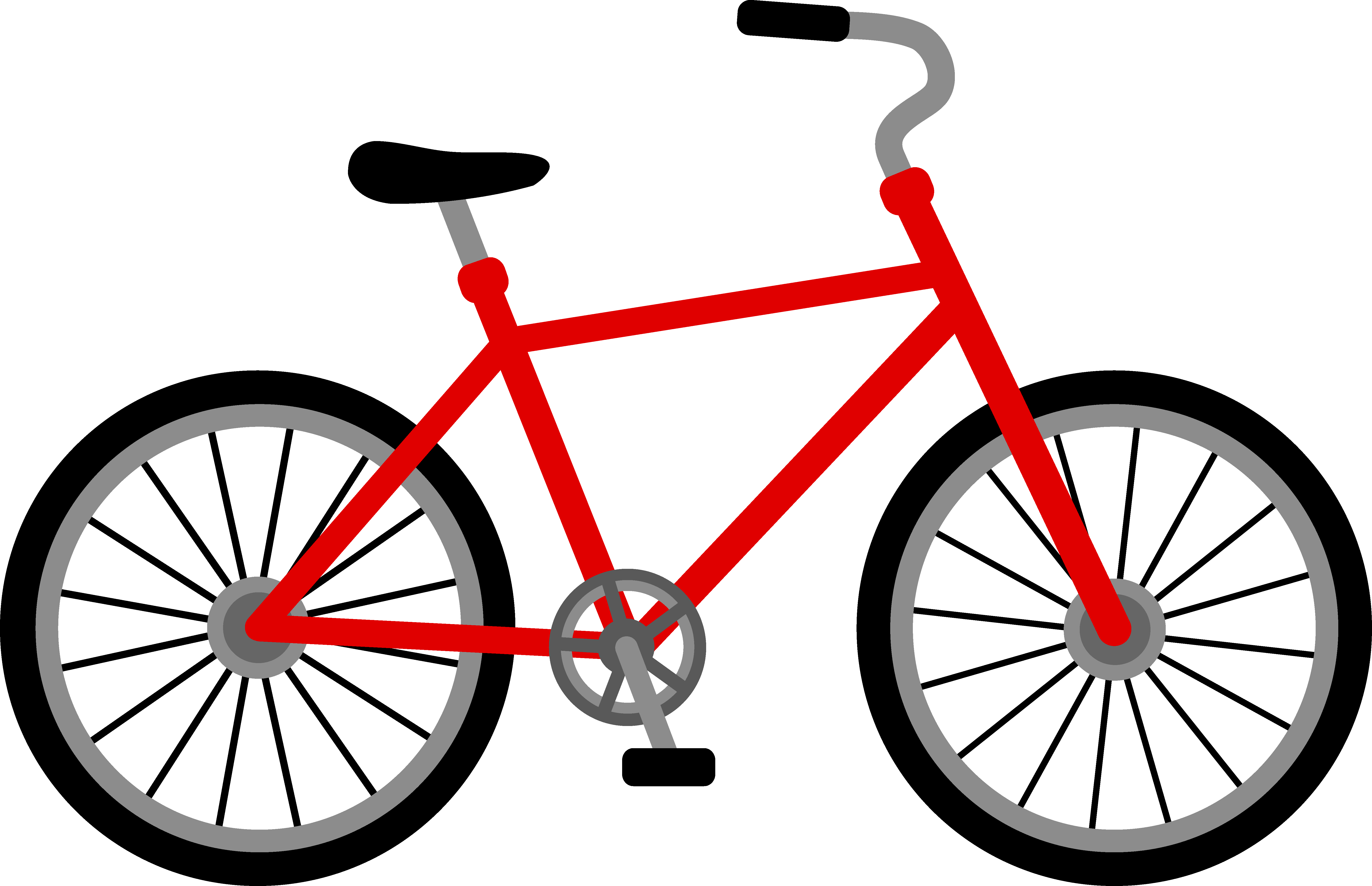 Clipart Man On Bicycle