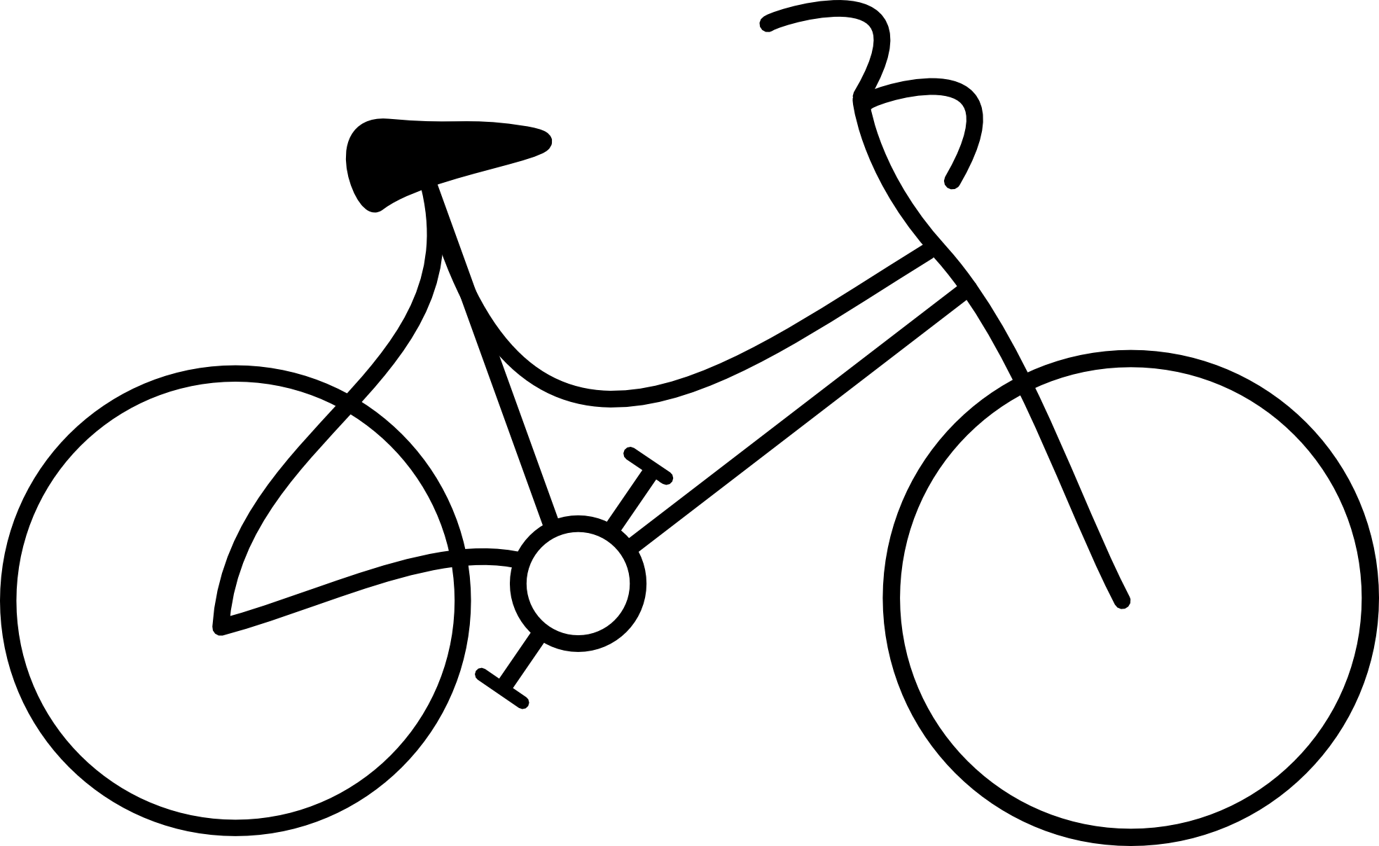 Simple Line Clip Art : Bike clipart black and white panda free