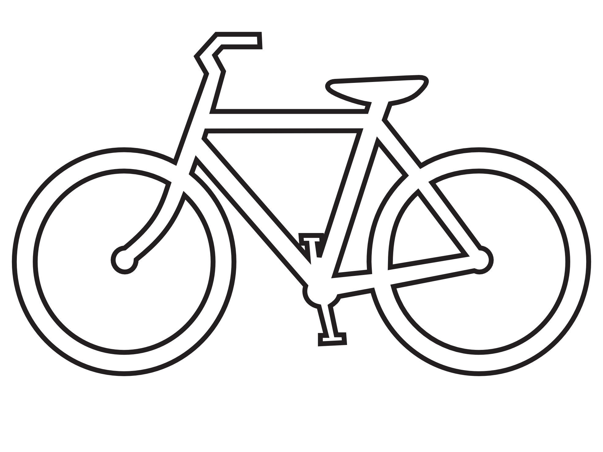 Bike Clipart Black And White | Clipart Panda - Free ...