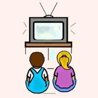 Little Girl Watching Tv Clipart Clipart Panda Free