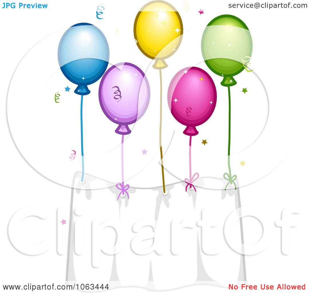 Cartoon birthday balloons clip art