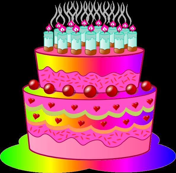 Birthday Cake Clip Art Happy Cartoon