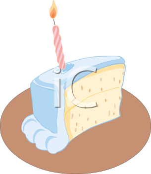 birthday cake slice clipart