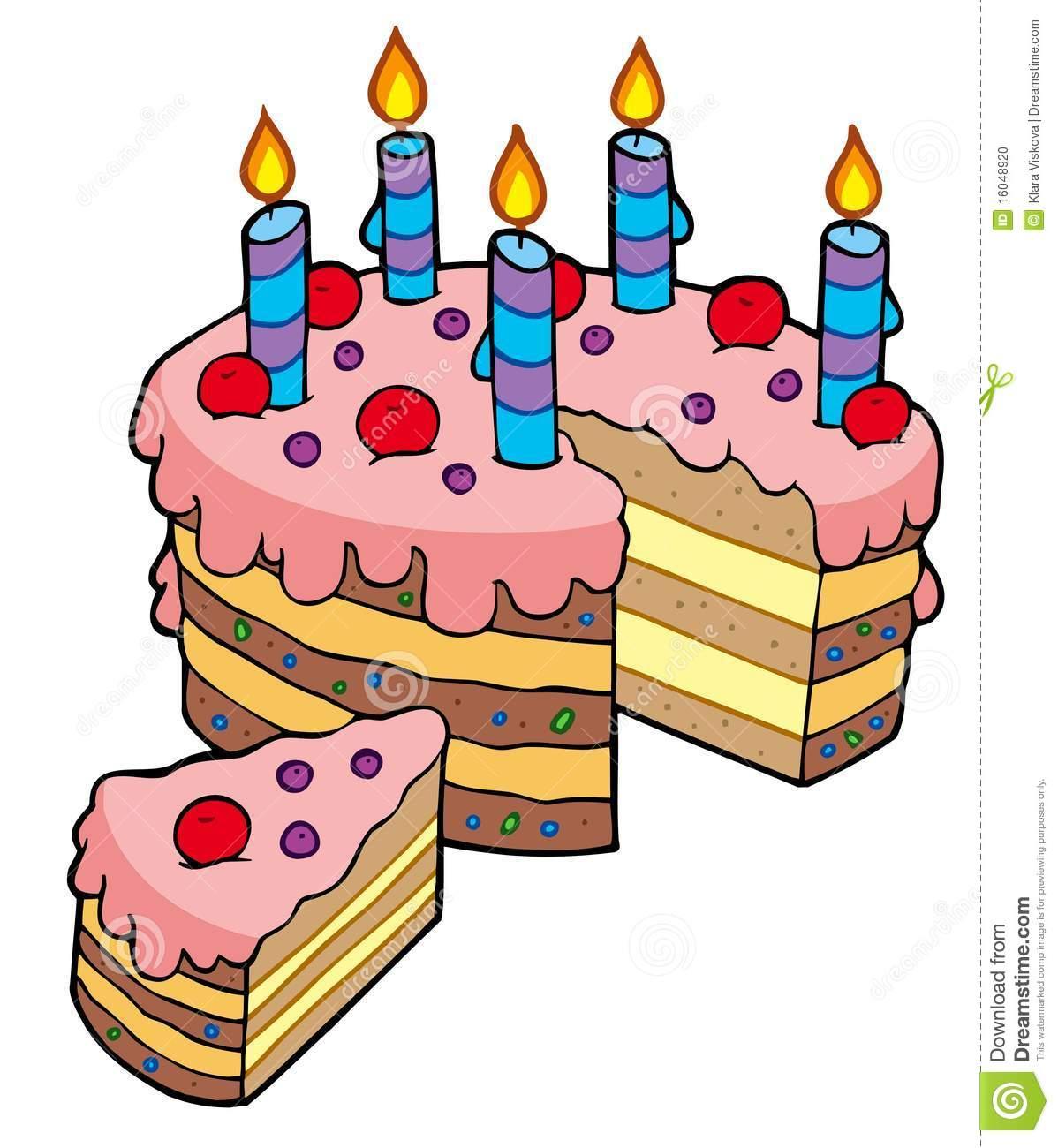 Birthday Cake Cute Cartoon