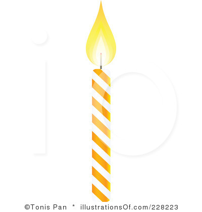 Birthday Candle Clipart Black And White Clipart Panda