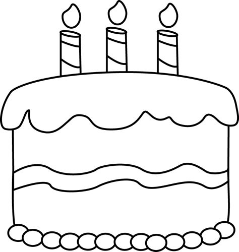 Birthday Candle Clipart Black And White | Clipart Panda ...