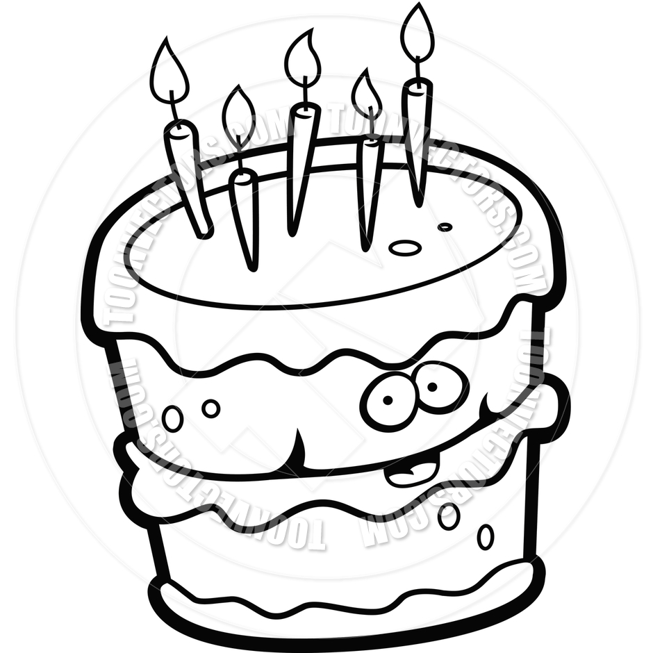 Birthday Candle Clipart Black And White