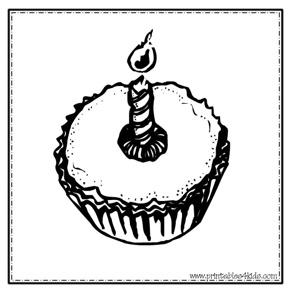 Birthday Cupcakes Coloring Pages | Clipart Panda - Free Clipart Images