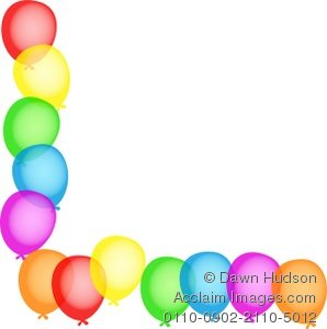 Birthday Party Clip Art Borders | Clipart Panda - Free Clipart Images