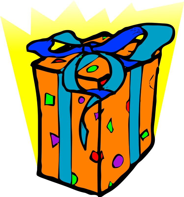 25th Birthday Gift Box Clipart Panda Free Clipart Images