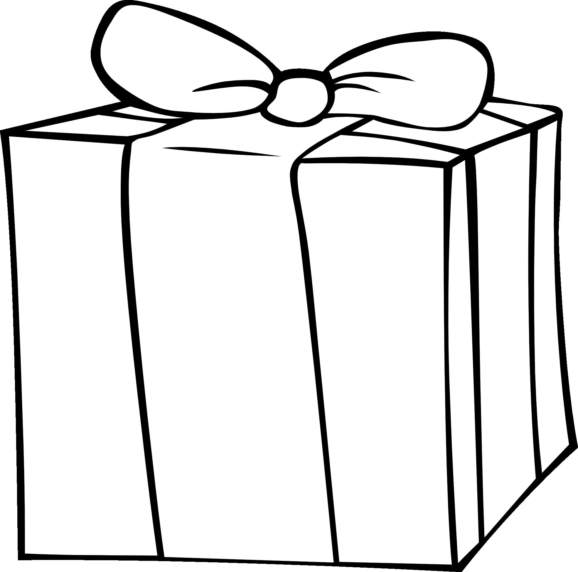 Gift Clipart Black And White Panda Free Images Rh Clipartpanda Com Birthday Present