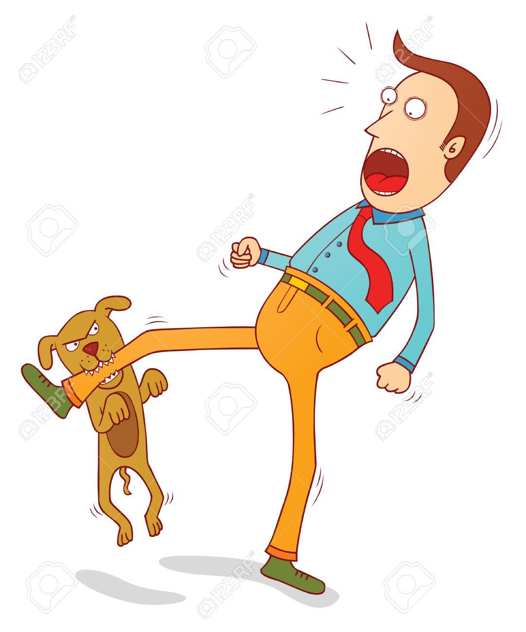 Dog Biting Foot Video
