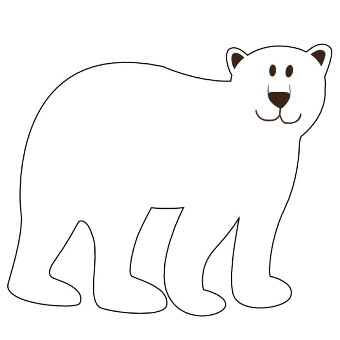Bear black and white. Clipart panda free images