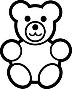 teddy bear clipart black and white clipart panda free clipart images rh clipartpanda com Girl Clip Art Black and White Girl Clip Art Black and White