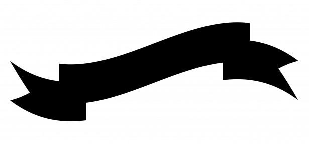Ribbon Banner Clipart Black And White | Clipart Panda - Free ...
