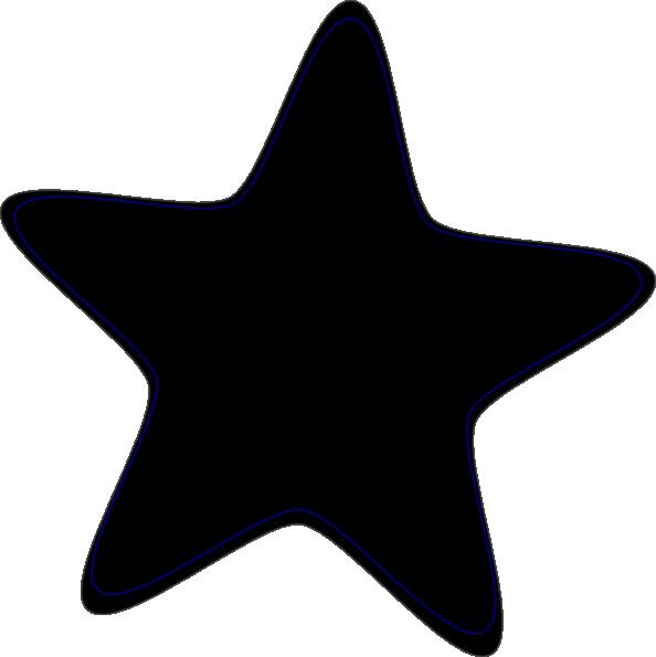 Star black. Clip art and white