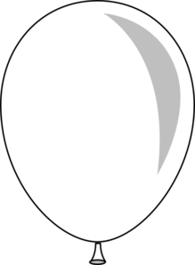 Black And White Single Balloon Clipart | Clipart Panda ...