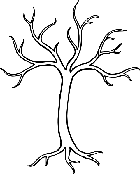 Black And White Bare Tree Clipart | Clipart Panda - Free ...
