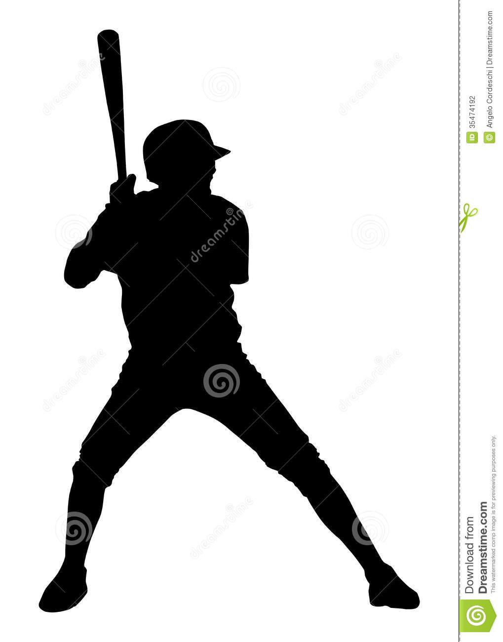 Baseball Player Clipart Black And White | Clipart Panda - Free ...