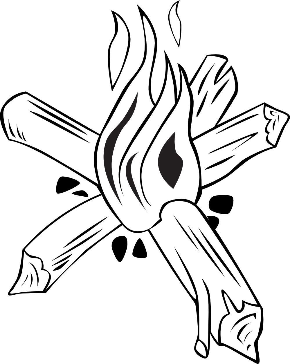 black%20and%20white%20campfire%20clipart