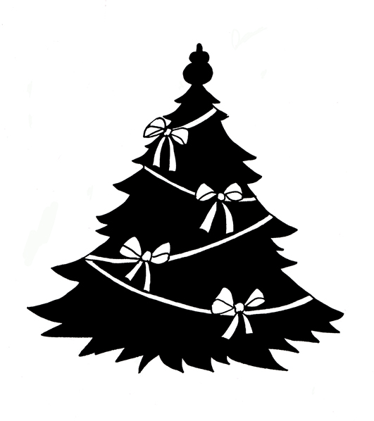 Christmas tree silhouette with | Clipart Panda - Free Clipart Images